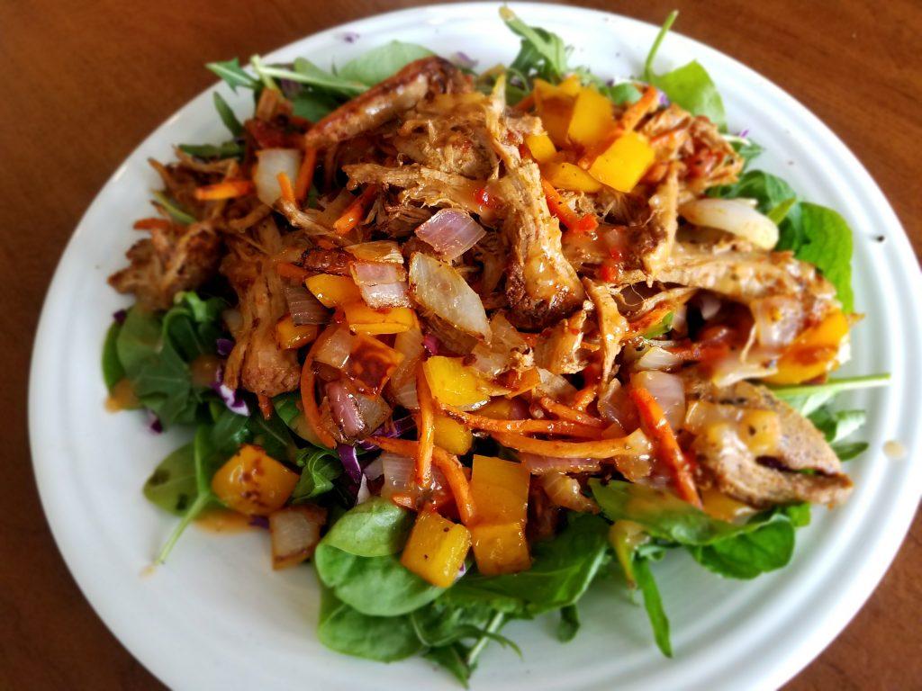 Sautéed Pepper, Red Onion, and Shredded Pork Salad